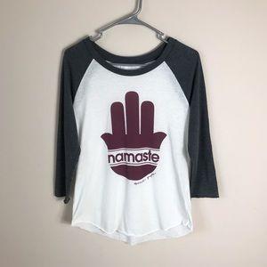 Spiritual Gangster Namaste raglan t-shirt M
